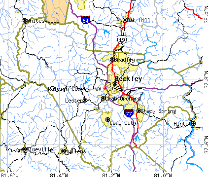 Raleigh County, WV map