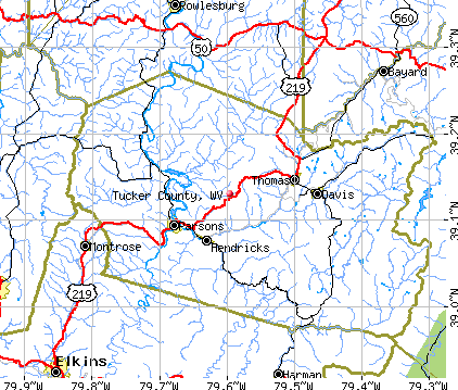 Tucker County, WV map
