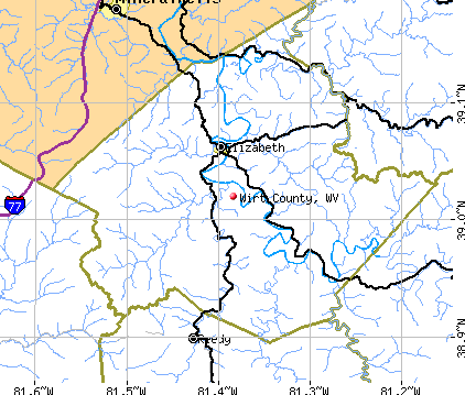 Wirt County, WV map