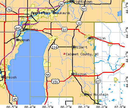 Calumet County, WI map