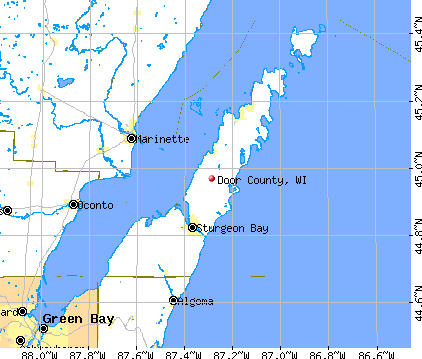 Door County, WI map