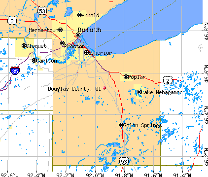 Douglas County, WI map