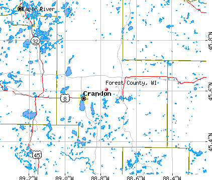 Forest County, WI map
