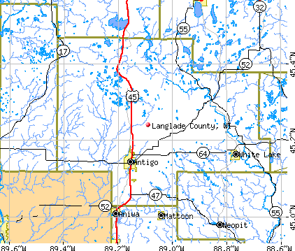 Langlade County, WI map