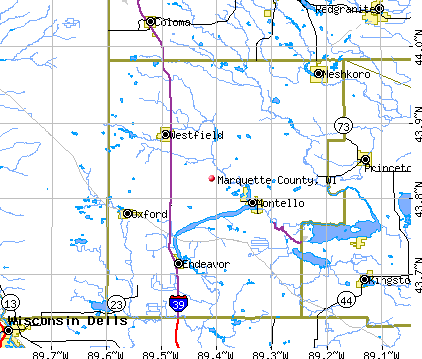 Marquette County, WI map