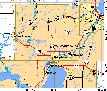 Outagamie County, WI map