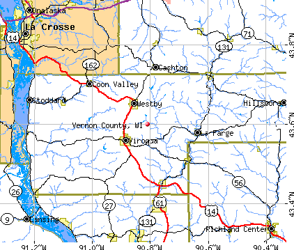 Vernon County, WI map