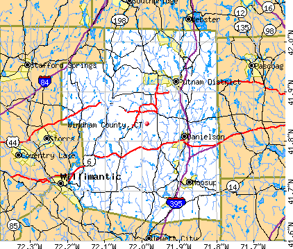 Windham County, CT map