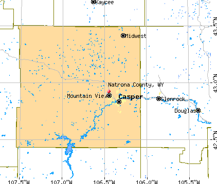 Natrona County, WY map