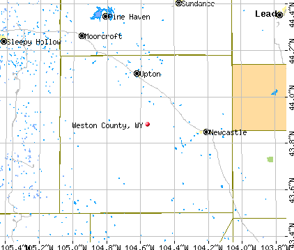 Weston County, WY map