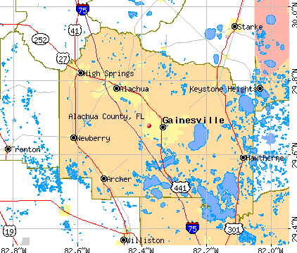 Alachua County, FL map