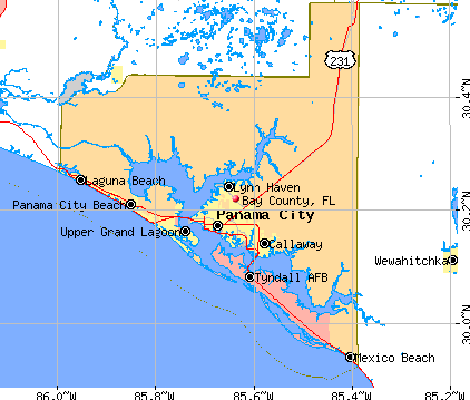Bay County, FL map