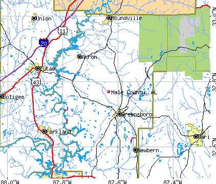 Hale County, AL map