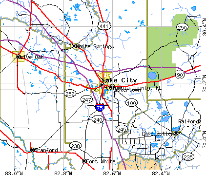 Columbia County, FL map