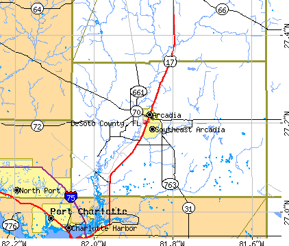 DeSoto County, FL map
