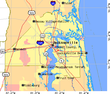 Duval County, FL map