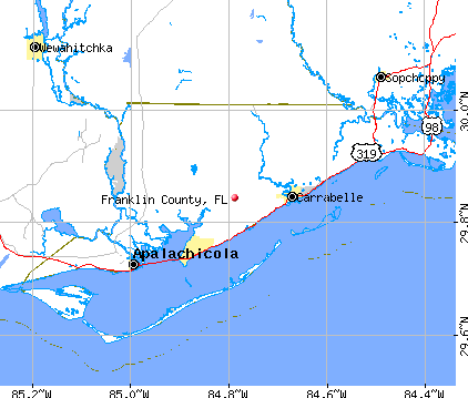 Franklin County, FL map