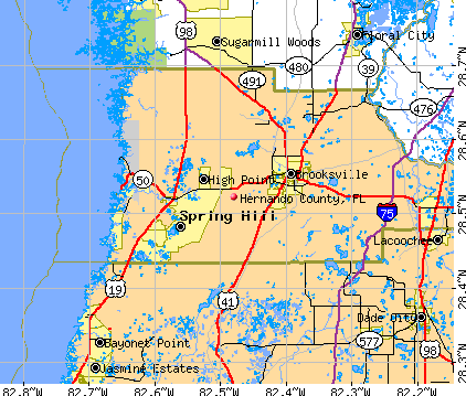 Hernando County, FL map
