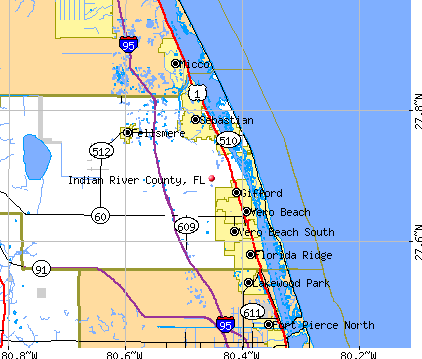Indian River County, FL map