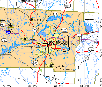 Leon County, FL map