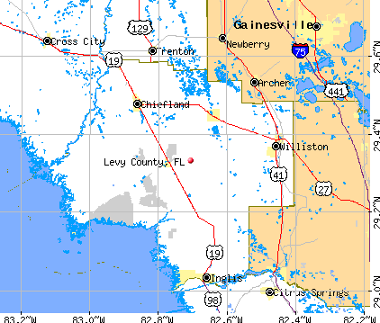 Levy County, FL map
