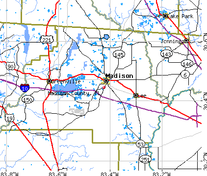 Madison County, FL map