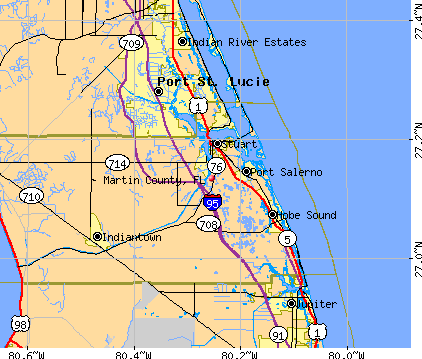 Martin County, FL map