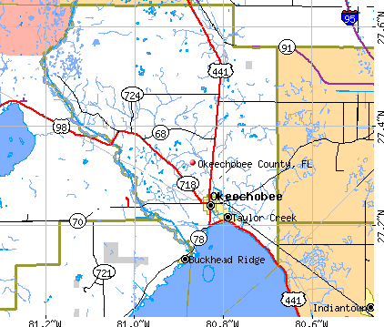 Okeechobee County, FL map