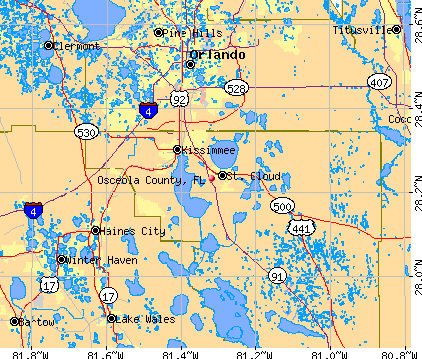 Osceola County, FL map