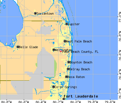 Palm Beach County, FL map