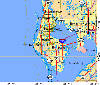 Pinellas County, FL map