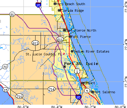 St. Lucie County, FL map