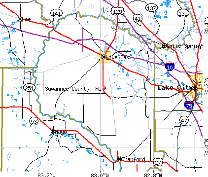 Suwannee County, FL map