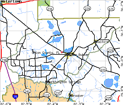 union county florida map