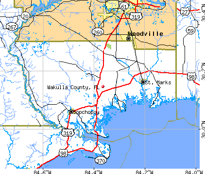 Wakulla County, FL map