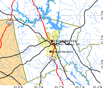 Baldwin County, GA map