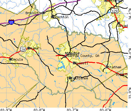 Barrow County, GA map
