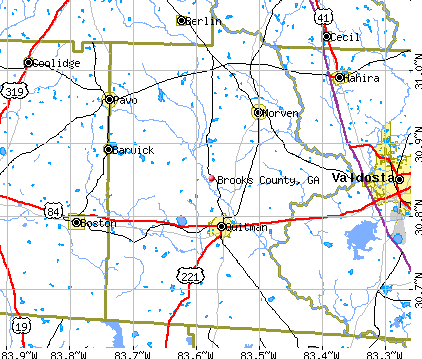 Brooks County, GA map