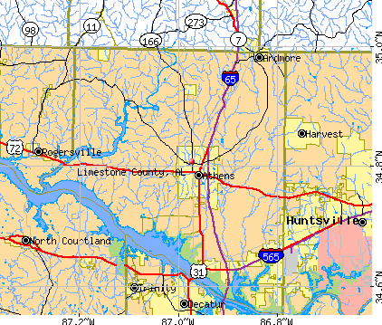 Limestone County, AL map
