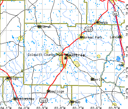 Colquitt County, GA map