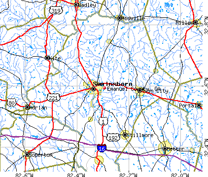 Emanuel County, GA map