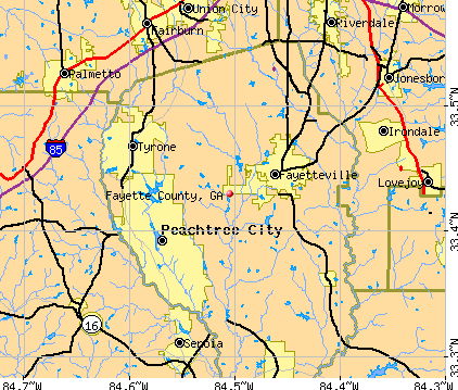 Fayette County, GA map