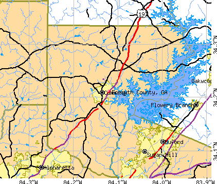 Forsyth County, GA map