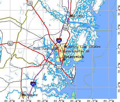 Glynn County, GA map