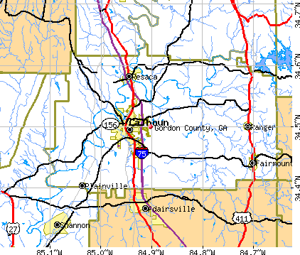 Gordon County, GA map