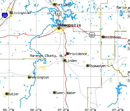 Marengo County, AL map