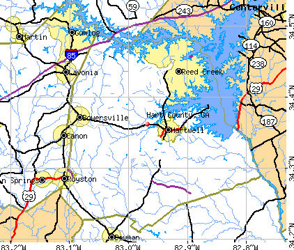 Hart County, GA map