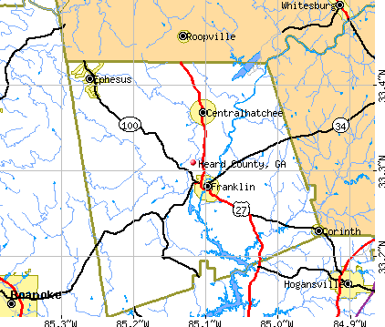 Heard County, GA map