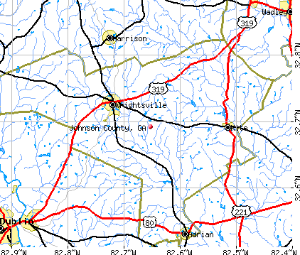 Johnson County, GA map