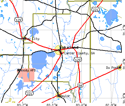 Lanier County, GA map